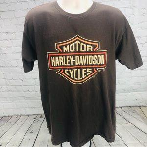 Brown men's Harley Davidson T-shirt